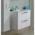 Set mobilier baie alb cu dulap baza si lavoar Tempo 60 cm